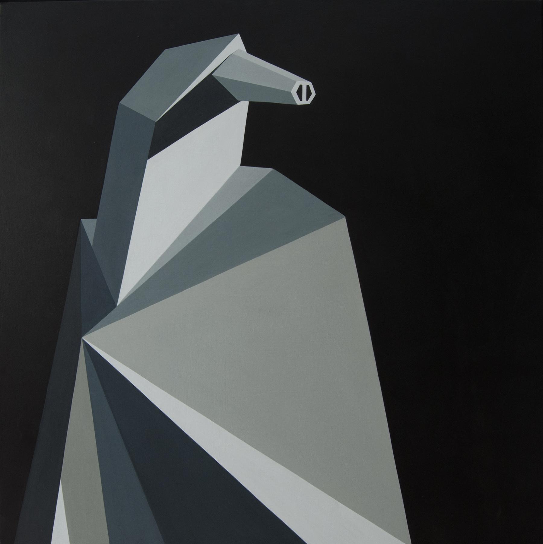 Geometric painting on canvas By Roberto Chessa