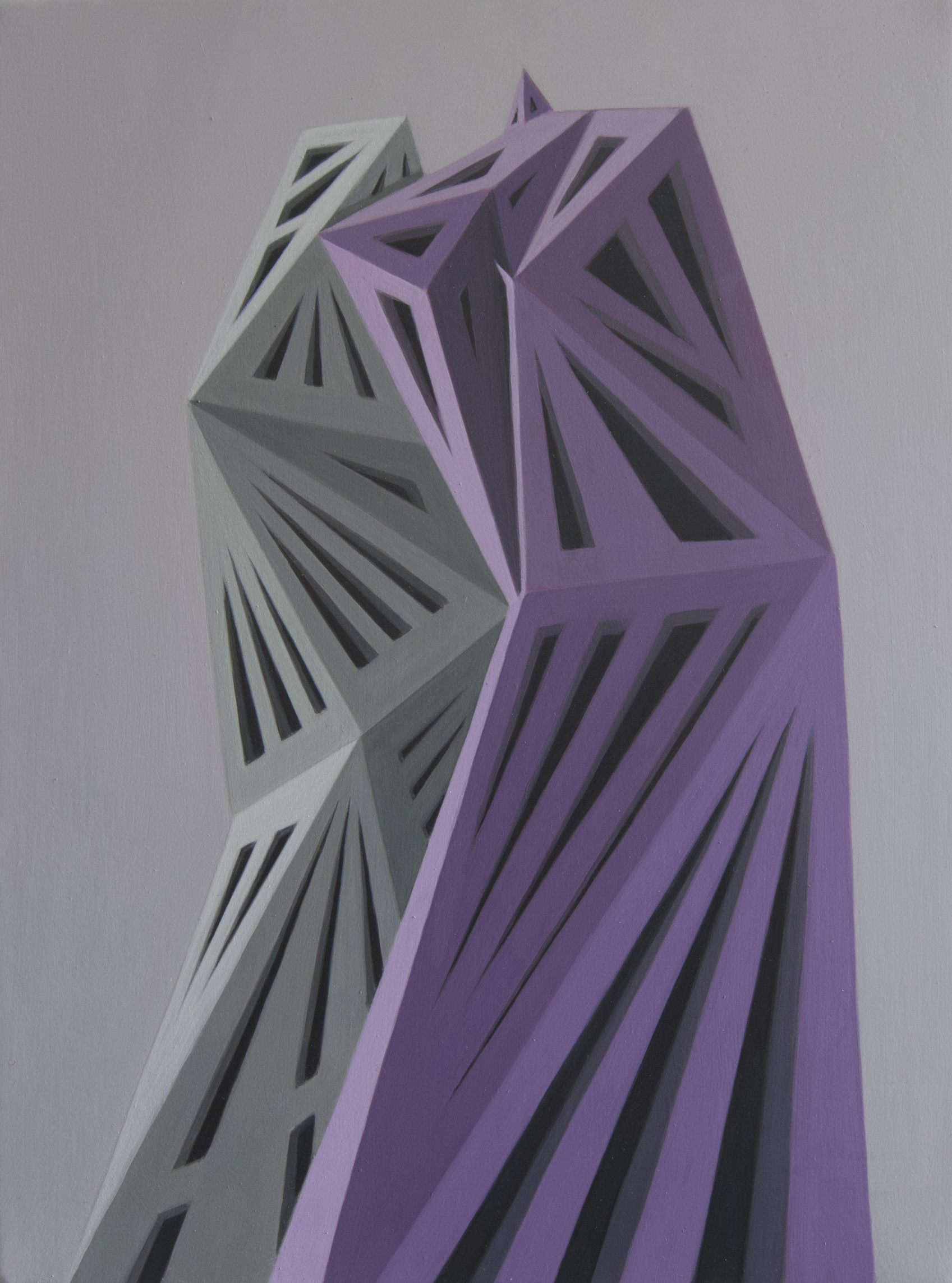 Geometric Abstract Painting On Canvas By Artist Roberto Chessa