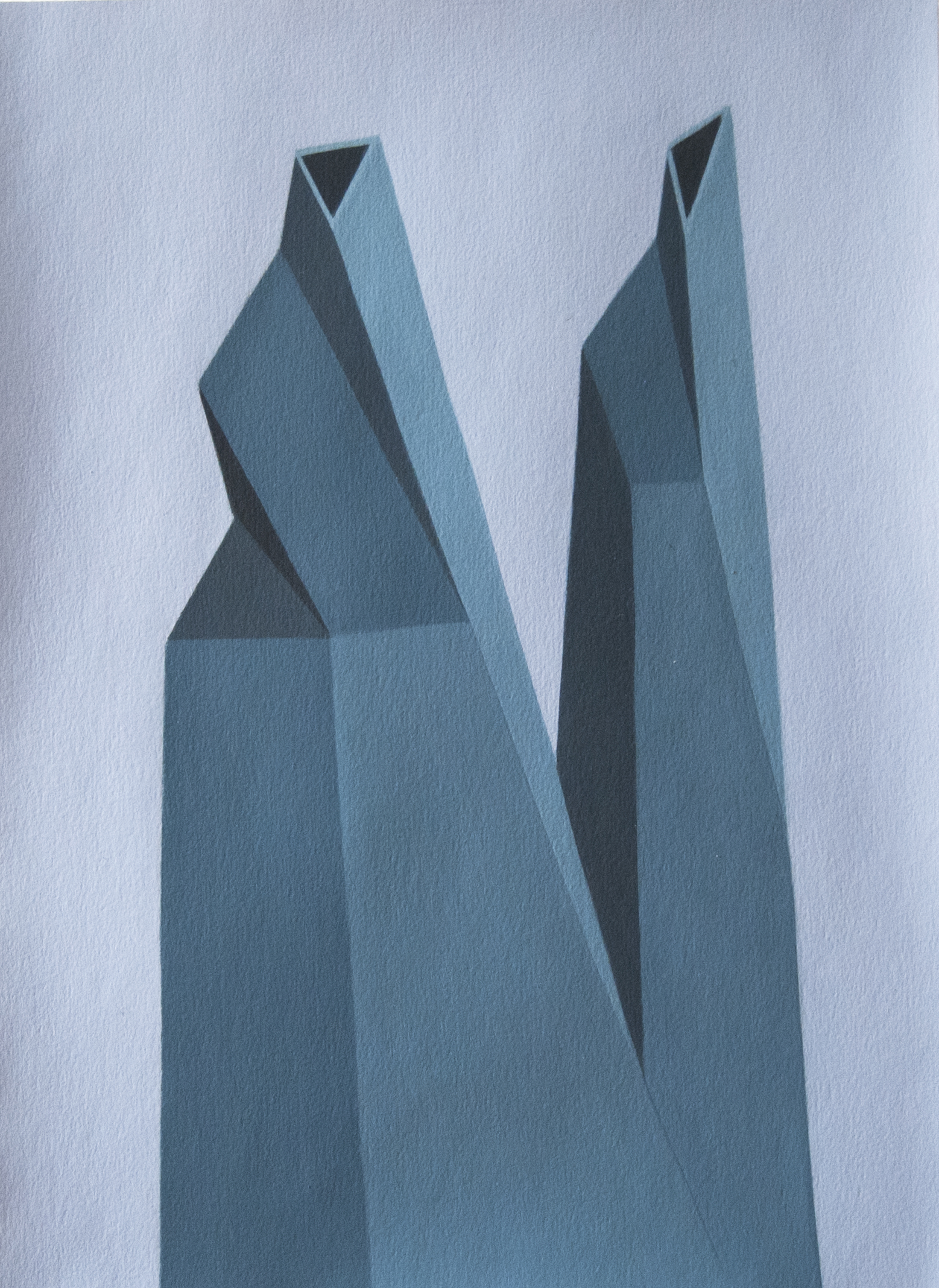 Geometric painting on paper By Roberto Chessa